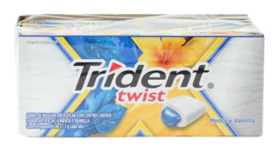 Chicle Trident Twist Splash Menta paquete de 10 unidades