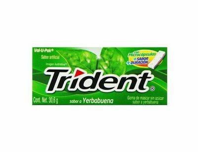 Chicle Trident  Yerbabuena paquete de 12 unidades