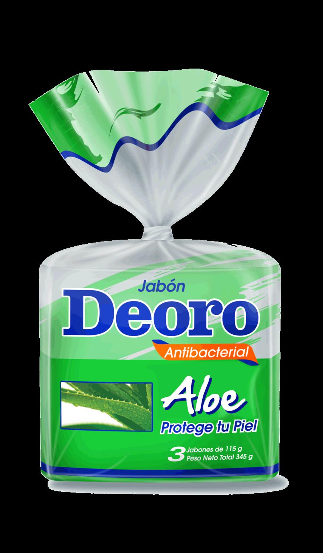 Jabon Deoro Aloe 3Pack de 110 Gramos