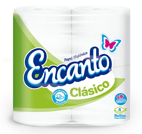 *Papel Higienico Encanto Clasico 230 Hojas 4 Rollos