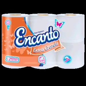 Papel Higienico Encanto Xtra Grande 430 Hojas 12 Rollos