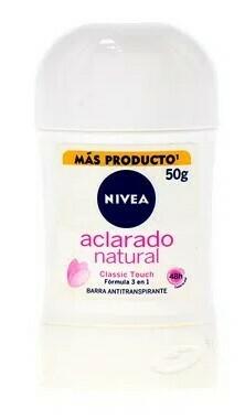Nivea Desodorante Barra Aclarado Natural 50gr