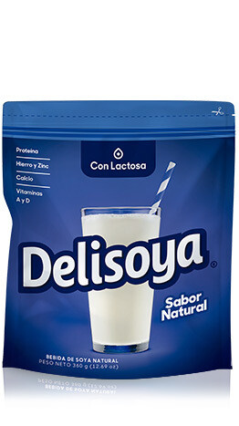 Bebida de Soya Delisoya con Lactosa Sabor Natural 800g