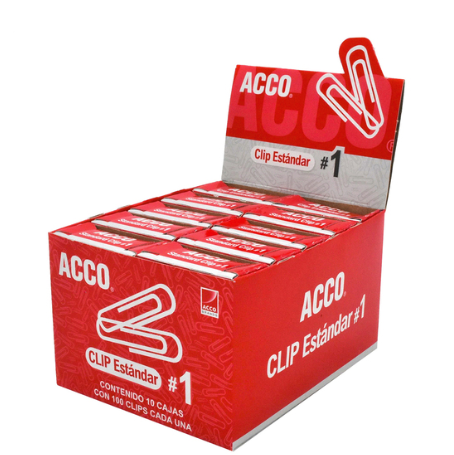 Clips Metal #1 OfficeOne Caja/100