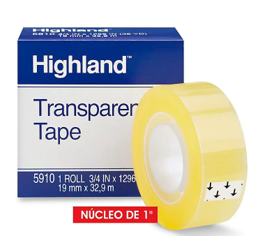 Tape Highland Transparente 3/4