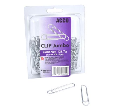 Clips Jumbo 50 mms OfficeOne Caja/100