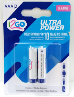 Bateria Alcalina AAA ULTRA POWER  (2 unidades)