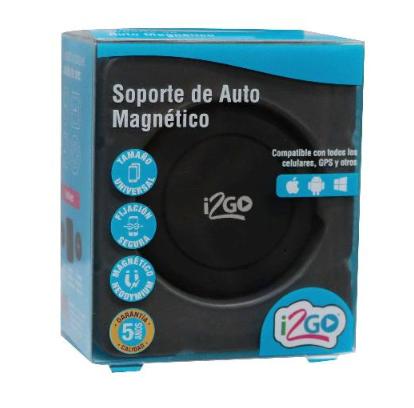 Soporte de Auto Magnetico para Celular i2GO  Negro