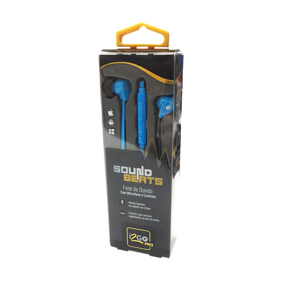 Audifono PRO con Microfono Azul