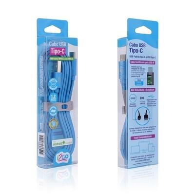 Cable Tipo-C (1.2 mt) Carga y Sincroniza i2GO Azul