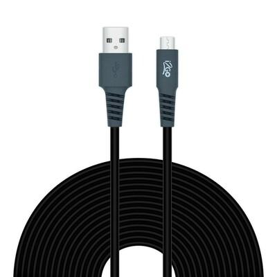 Cable Micro USB 3 Metros Cable Redondo PVC i2GO Negro