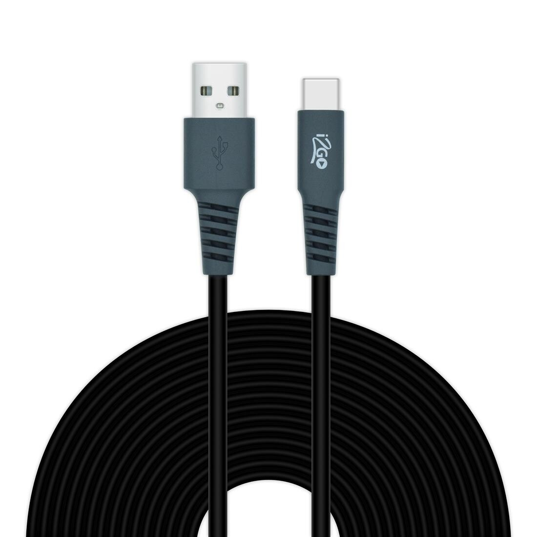 Cable Tipo C 3 Metros Cable Redondo PVC i2GO Negro