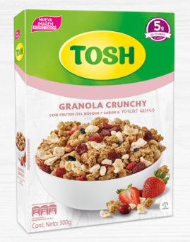 Cereal Tosh Yogurts Griego 300g