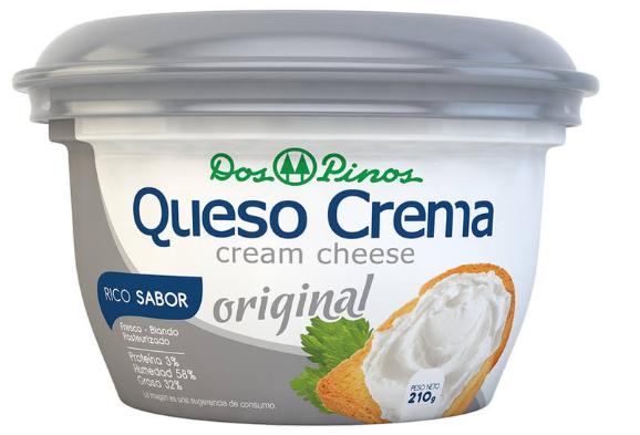 Queso Crema Dos Pinos 210gr
