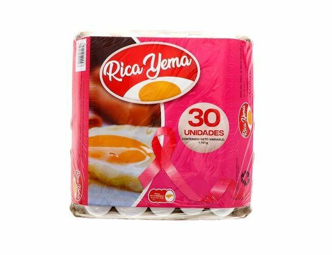 Carton de Huevos Rica Yema - 30 Unidades