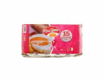 Carton de Huevos Rica Yema - 15 Unidades
