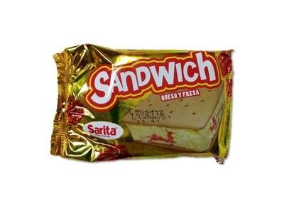 Sandwich Queso y Fresas