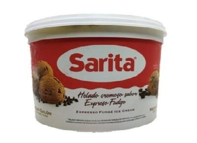 Helado de Espresso Fudge Sarita 1/2 Galon
