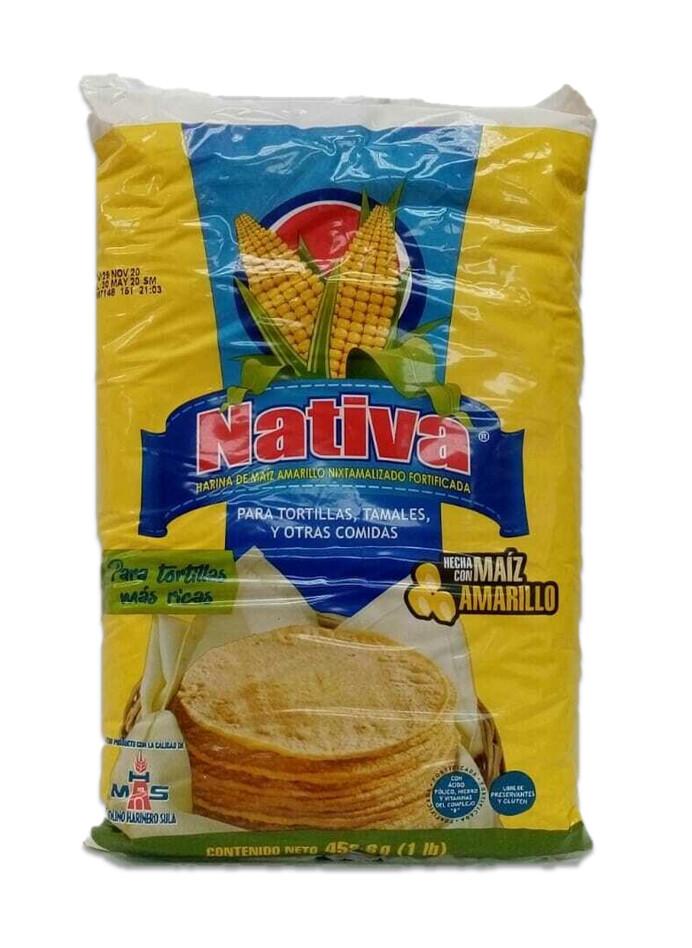 Harina de Maiz Amarillo  Nativa 1 Lb