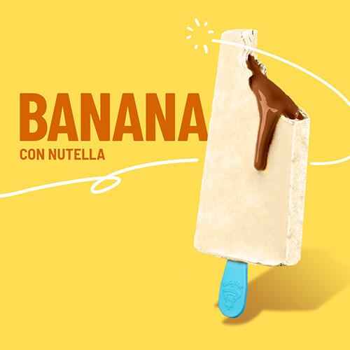 Paleta de Banana Rellena de Nutella Mini (YUCATAN)