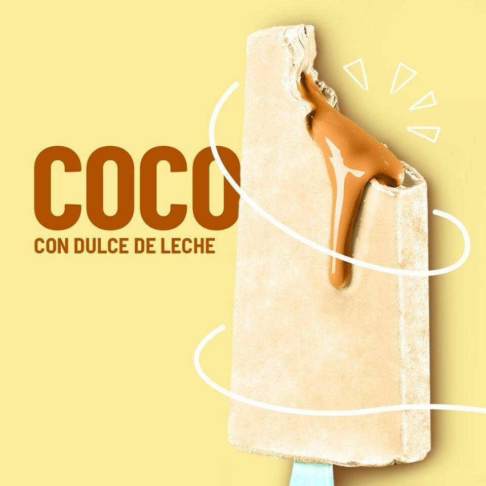 Paleta de Coco con Relleno de Dulce de Leche (YUCATAN)