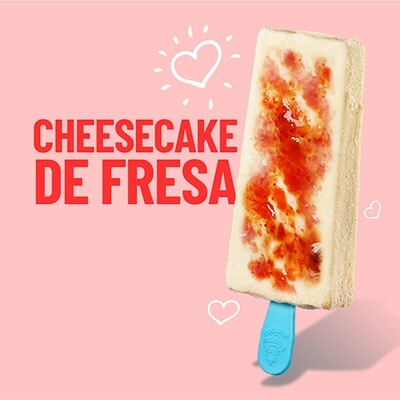 Paleta de Cheesecake de Fresa (YUCATAN)