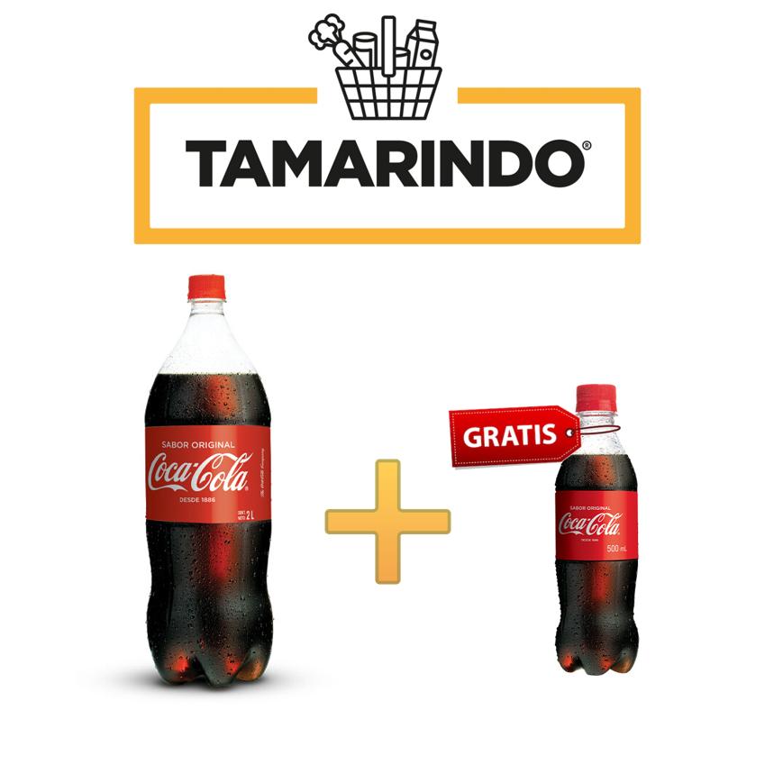 Promoción Coca Cola Original Botella 2L + Coca Cola de 500ml Gratis