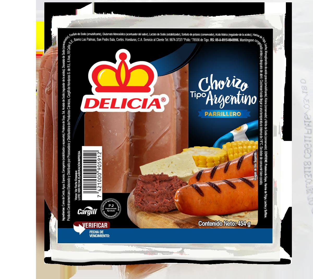 Chorizo Argentino Parrillero Delicia 454gr