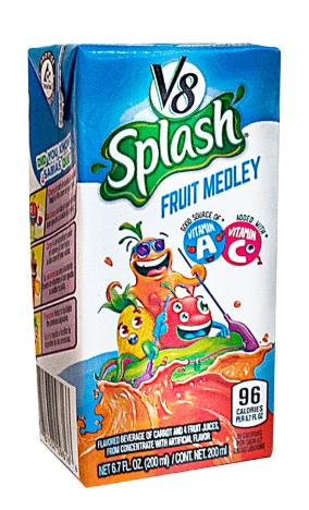 Jugo V8 Splash Fruit Medley Tetra 200ml