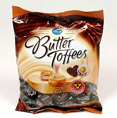 Confite Arcor Butter Toffees Cafe (100 unid) 400gr