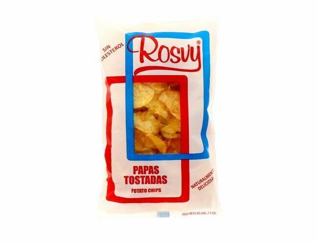 Rosvy Papas Tostadas (Potato Chips sin Colesterol)  85gr /3oz
