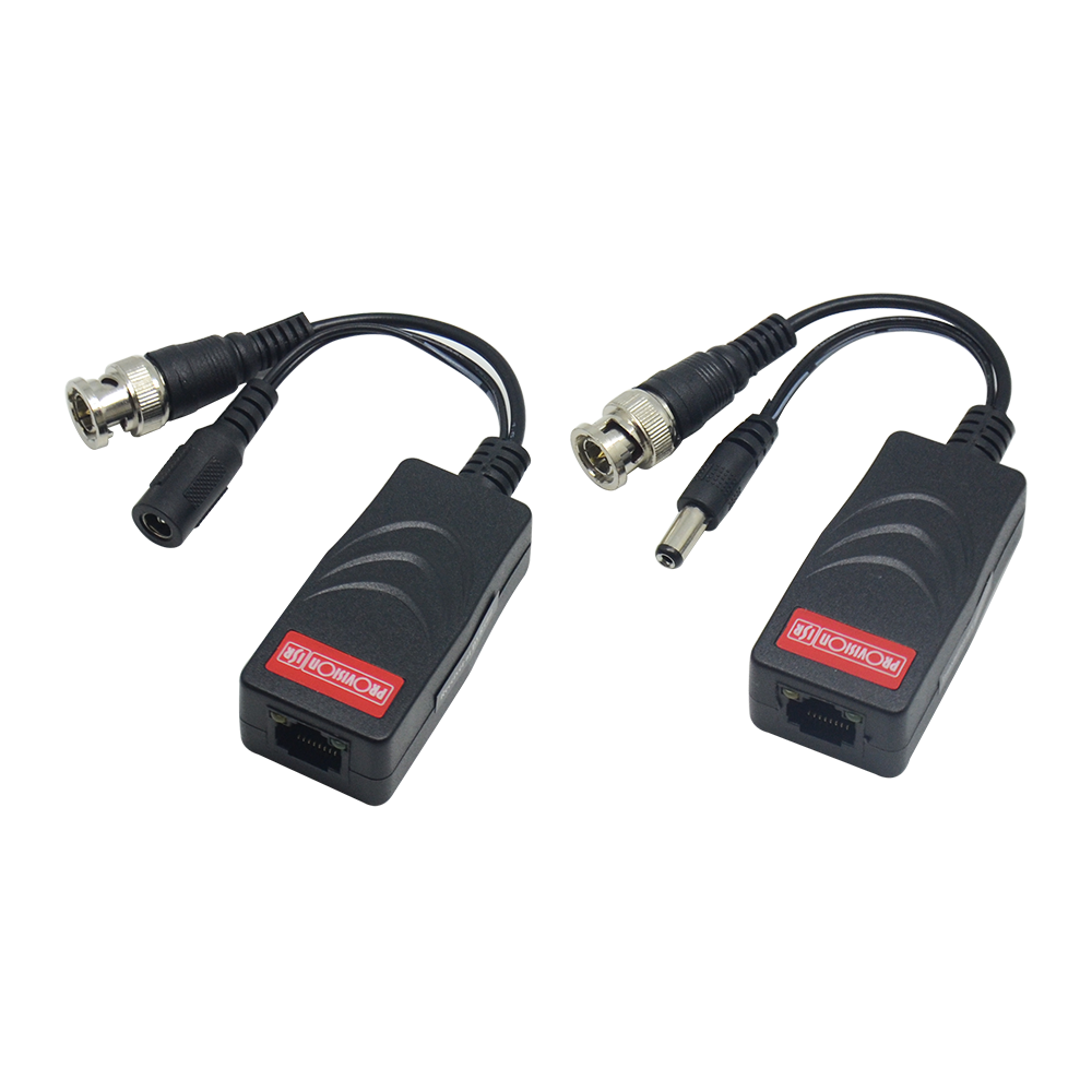 4 in 1, 1CH Passive HD Video and Power Balun Set