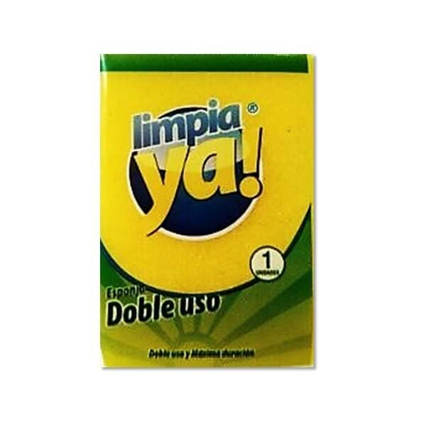 Esponja Doble Uso Limpia Ya 1 unidad (9.6.3cm)