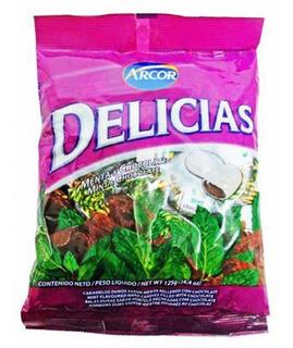 Confite Arcor Delicias Menta y Chocolate 400gr (14.11oz)