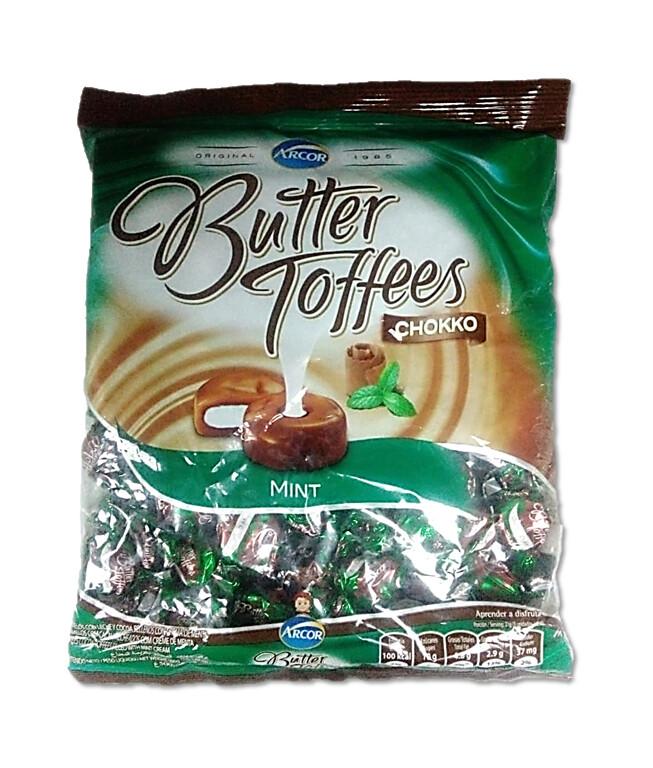 Confite Arcor Butter Toffees Chokko Mint 500gr