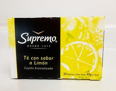 Te Supremo Limon 40gr (1.4oz) 20 Bolsitas