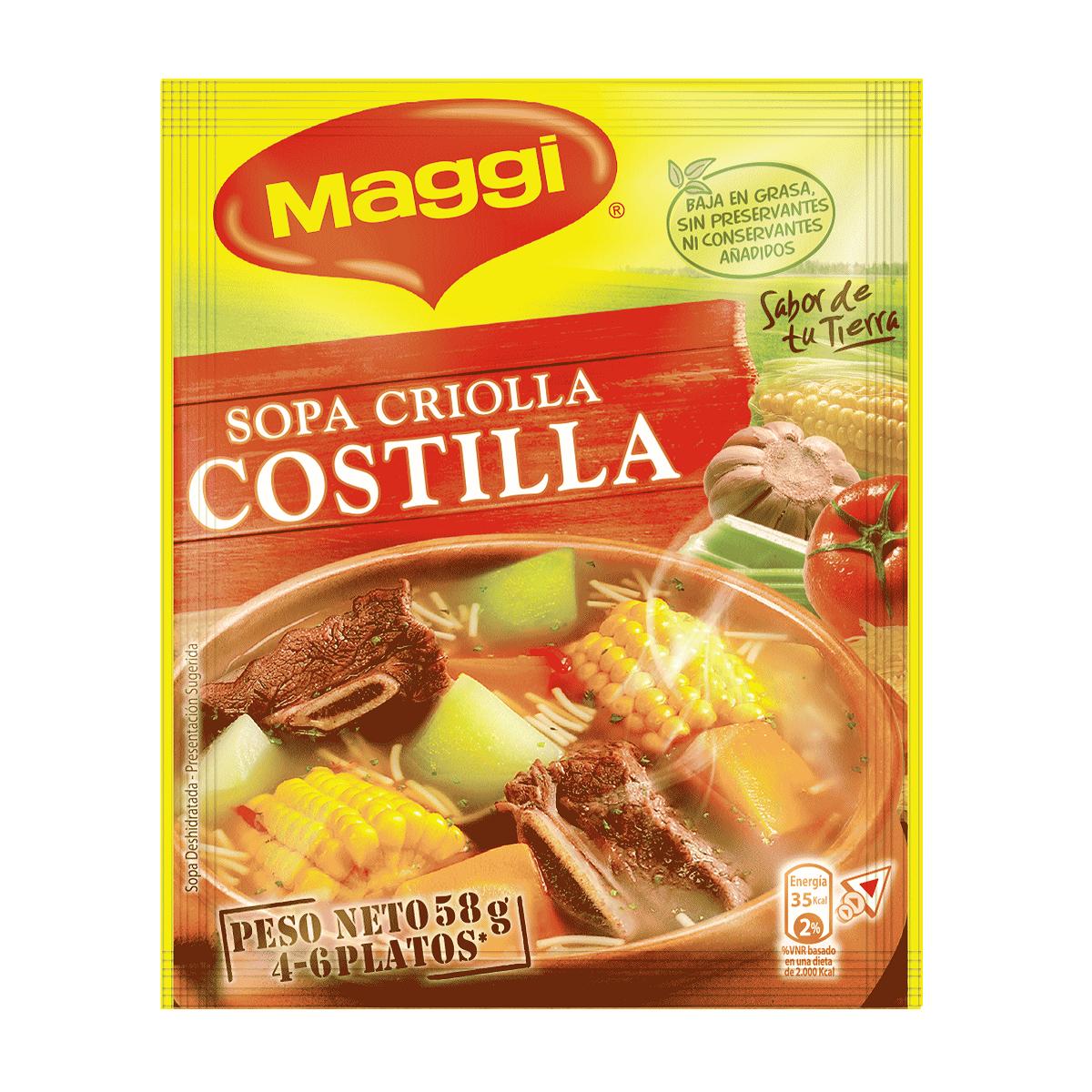 Maggi Sopa Criolla Costilla 58gr