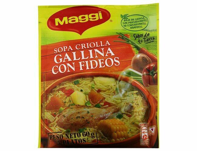 Maggi Sopa Criolla Gallina con Fideos 60gr