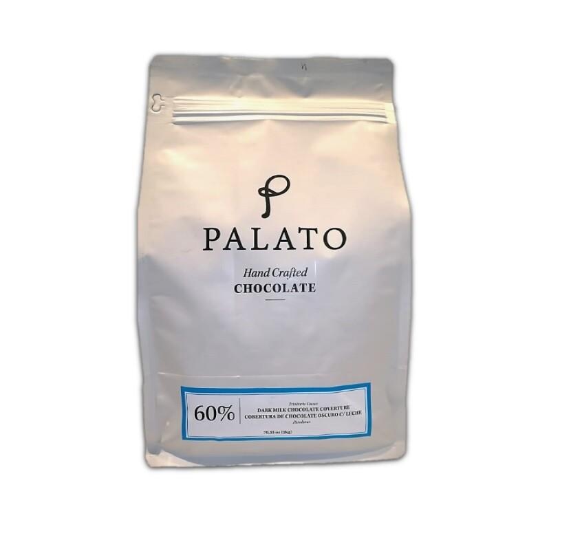 Cobertura 60% Chocolate Oscuro con Leche 2 kilos (PALATO)
