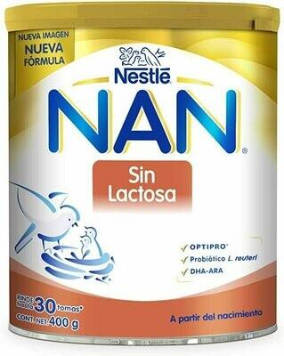 Leche NAN Sin Lactosa 1 400gr