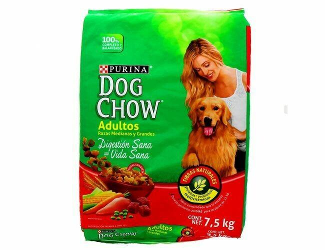 Dog Chow Adulto Raza Medianas & Grandes 7.5kg (16.5lb)