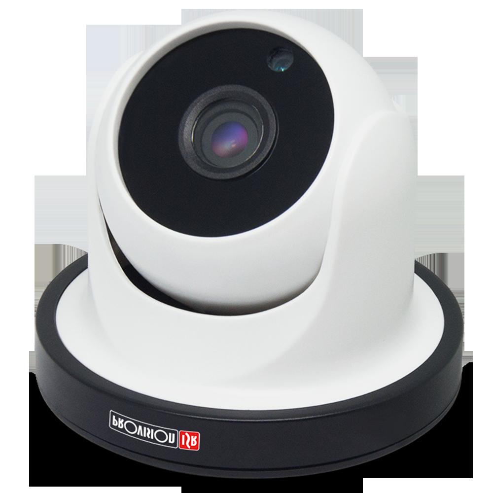 "Camera-AHD Basic Series, Dome plastic, IR(24 LEDs), 3.6mm lens, 1/3""Sensor, 1.0MP, white. (Interior)"