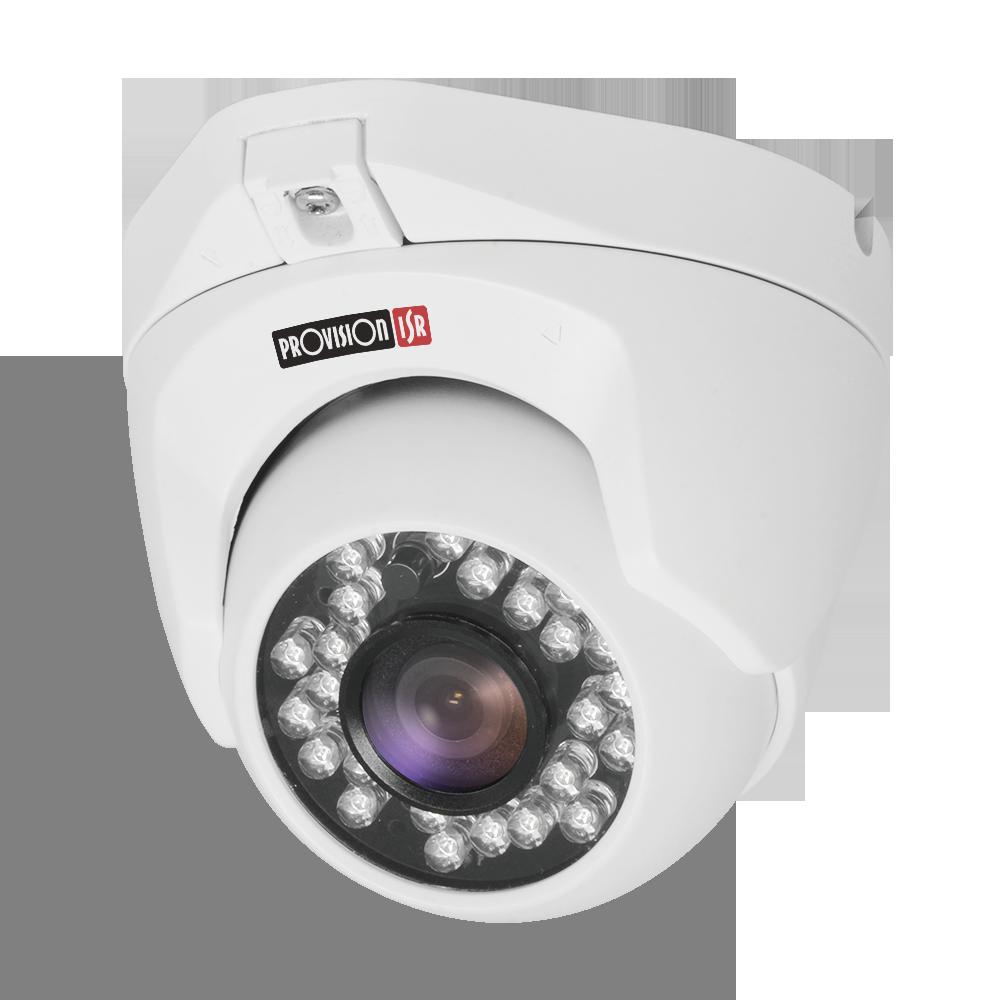 Camera-AHD Eco Series, Dome metal, IR(24 leds), 3.6mm lens, 1/3Sensor, 2.0MP, white (Interior/Exterior)