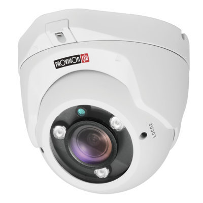 Camera-AHD Pro, Dome metal, IR(3pcs Array), 2.8-12mm motorized lens, 1/3 sensor 2.0MP, white (Interior/Exterior)