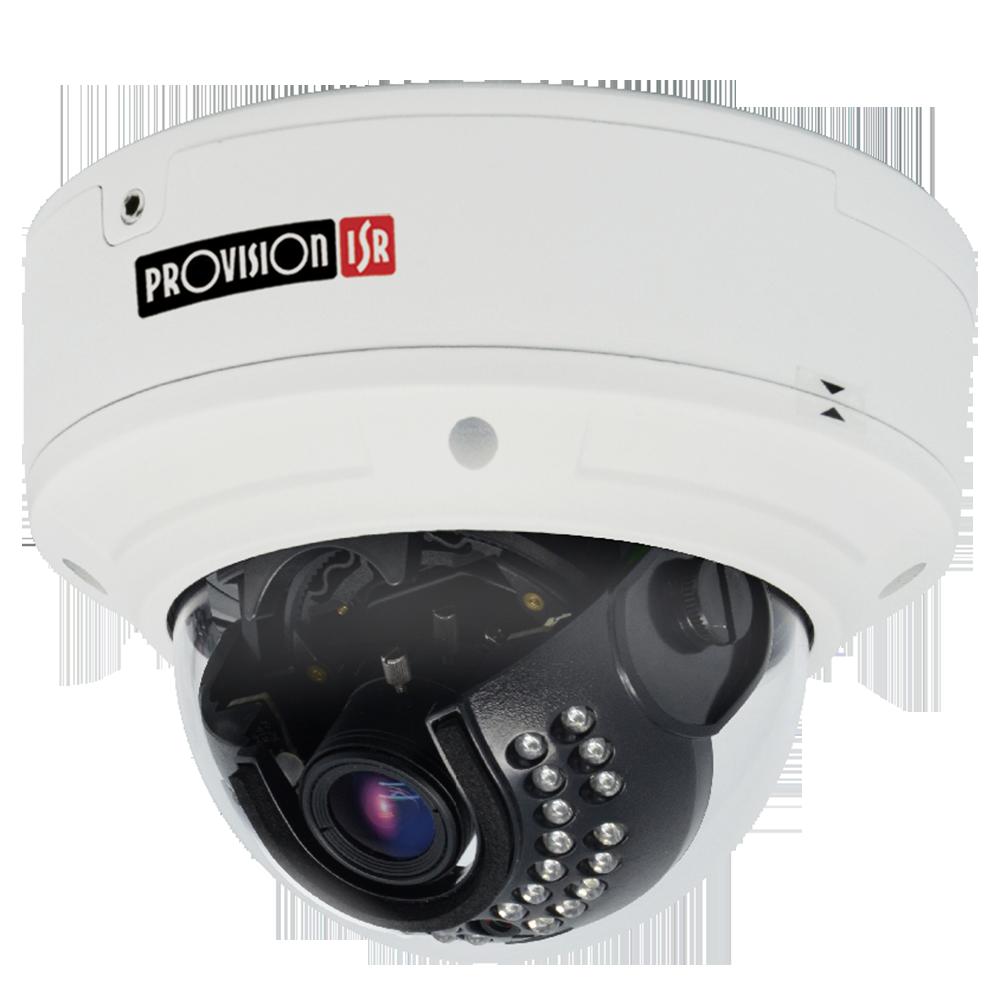 Camera-H.265 Eye-Sight Series,  Anti-Vandal, IR 25M(30 LEDs), Motorized 3.3-12mm Lens,1080P with PoE