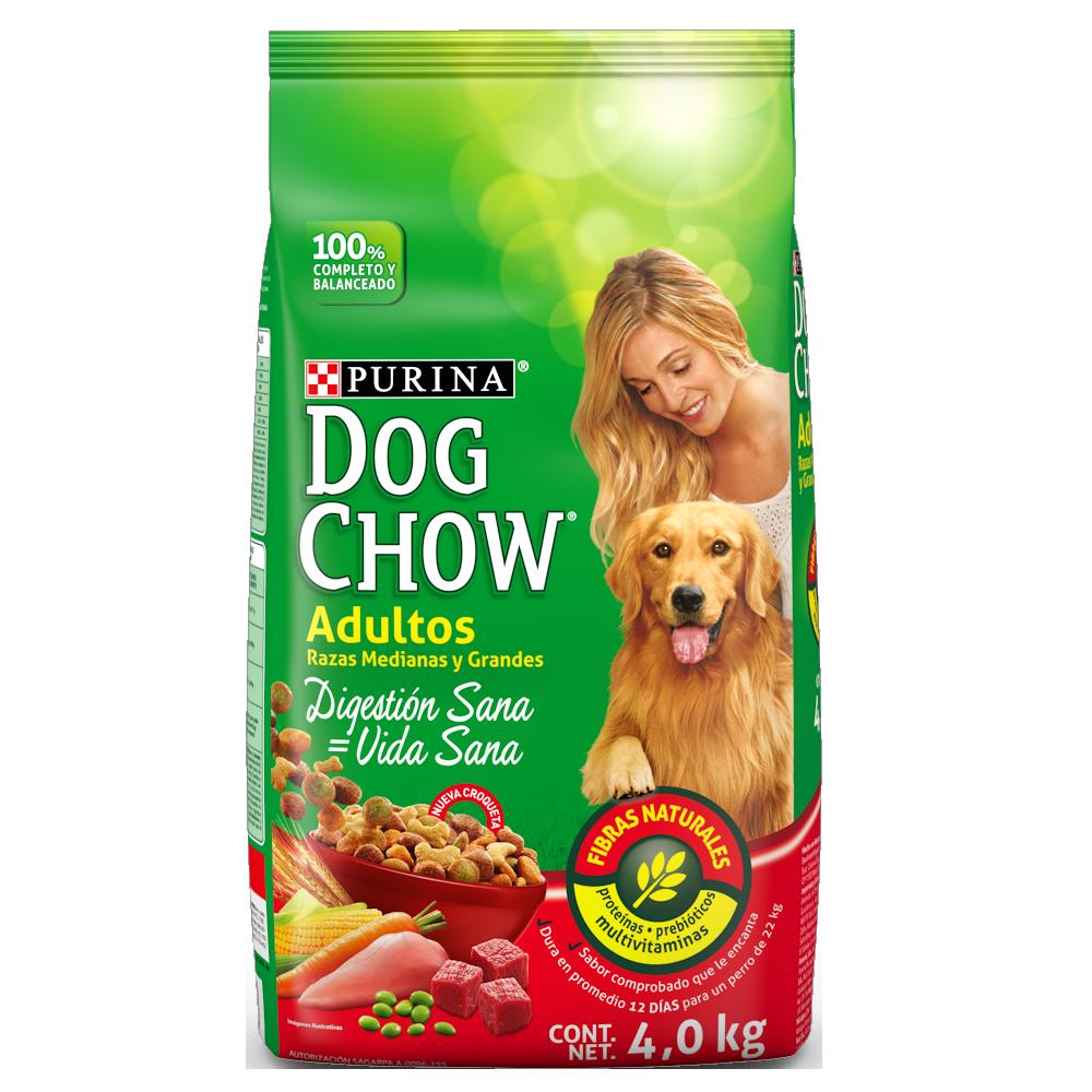 Dog Chow Adulto Raza Med & Gr 4kg (8.8lb)