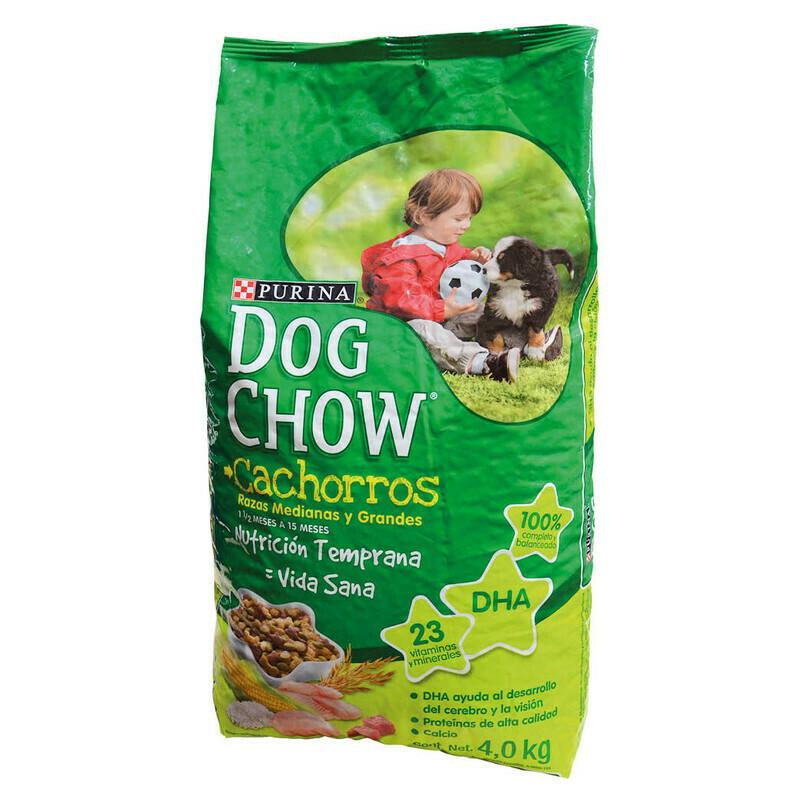 Dog Chow Cachorro Raza Med & Gr 4kg (8.8lb)