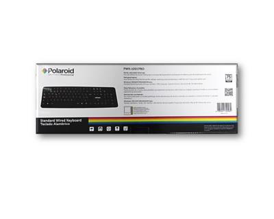 Teclado Alambrico Polaroid Negro PWK-1001