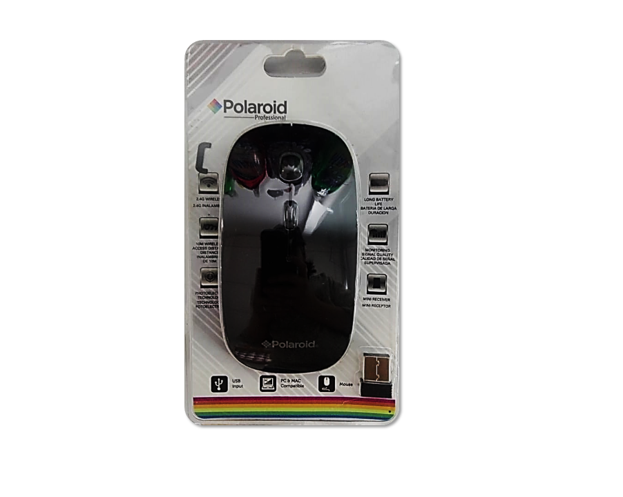 Mouse inalambrico Polaroid Negro PMWL-125
