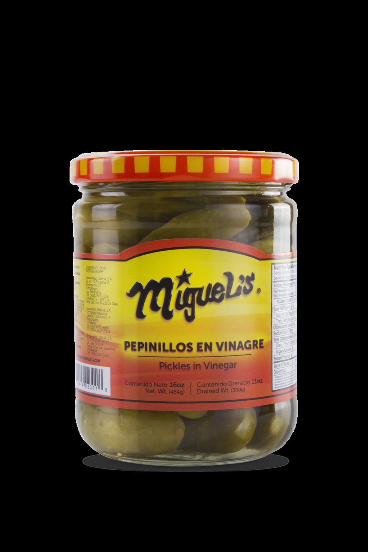 Pepinillos Miguel's en Vinagre 16oz